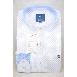 Camisa estampada estructura cuello mao 1762LC