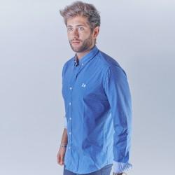 Camisa azul con topitos 1803B
