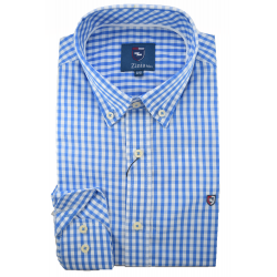 Camisa de cuadros azul 1741Z