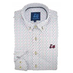 Camisa de estampado geométrico  1767A
