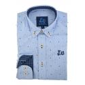 Camisa con estampado cachemir 1759C