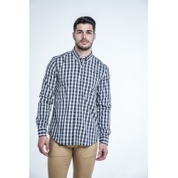 Camisa Cuadros Marino 1830B