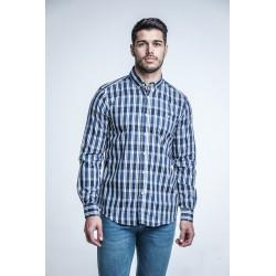 Camisa Cuadros Azul 1831B
