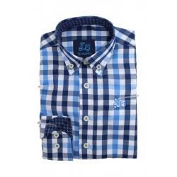 Camisa de Cuadros Azules 1835B