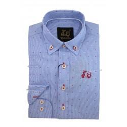 Camisa algodón milrayas con estampado 9205B