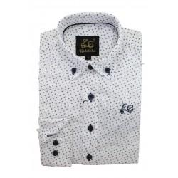 Camisa Algodón Estampado Hojas 9207B