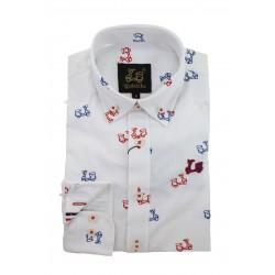 Camisa Algodón Estampado Vespas 9208