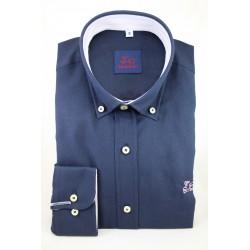 Camisa Oxford Marino 999B
