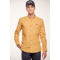 Camisa Lino Cuello Mao 9102B