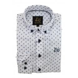 Camisa cadete algodón con estampados 9206C