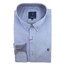 Camisa Cuadros Celeste 1839B