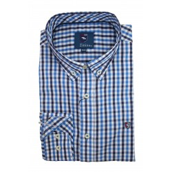 Camisa Cuadros Azules 1840Z