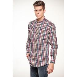 Camisa Cuadros Tricolor  9202