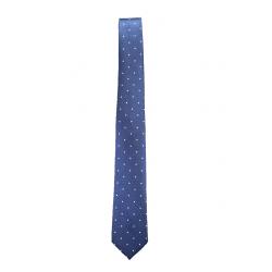 Corbata Azul Lunares