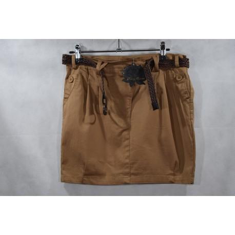Falda loneta con cinturón